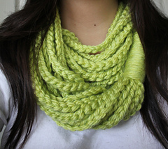 Chain loop scarf to crochet