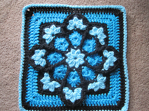 Beautiful Stained Glass Afghan Square Ambassador Crochet