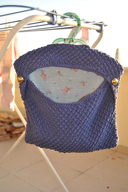 knitted peg bag sac pinces à linge tricot