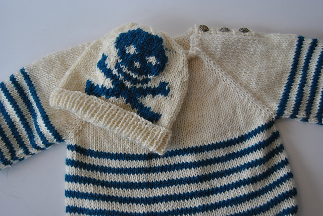 Pirate hat tricot bonnet bébé baby
