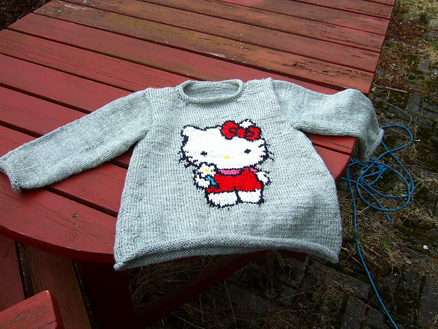 Knitting Pattern For Hello Kitty Sweater : Friggatriskaidekaphobia Knit Run, Purl Run