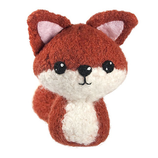 Felted fox amigurumi