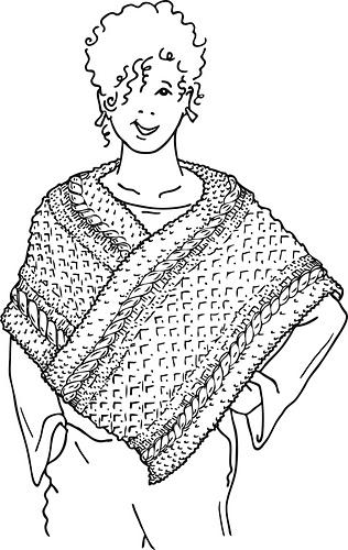 Ravelry: Ireland Poncho pattern by Donna Druchunas