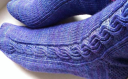 Cabled mens socks