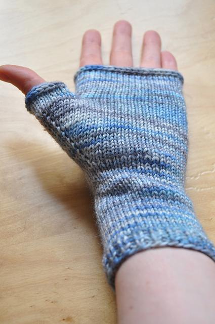 fingerlose handschuhe zauberwiese sockenwolle 6fach jeanstauglich