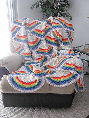 Rainbow crochet blanket pattern