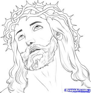 jesus draw step drawing drawings simple amazing sketches resolution christ mime pixels kb type