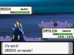 ¡He capturado a Arceus!