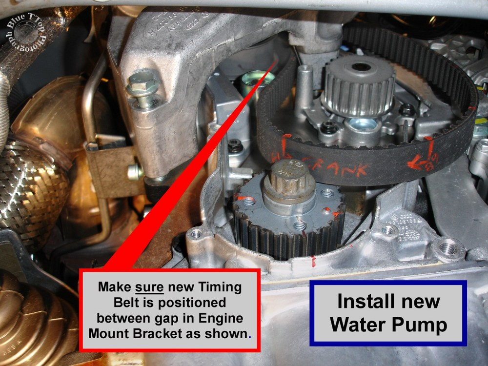 medium resolution of step 29 install timing belt on crank sprocket start by confirming that tdc is aligned at cam sprocket and visible on the flywheel