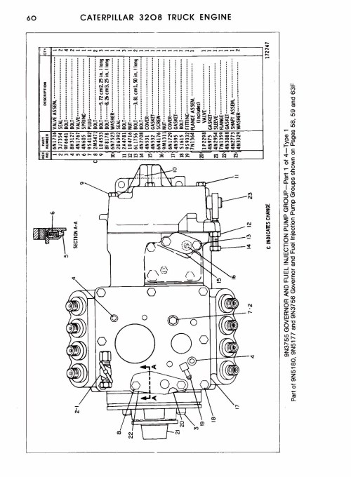 small resolution of cat 3208 starter motor wiring diagram wiring library rh 2 evitta de cat 3208 injection pump