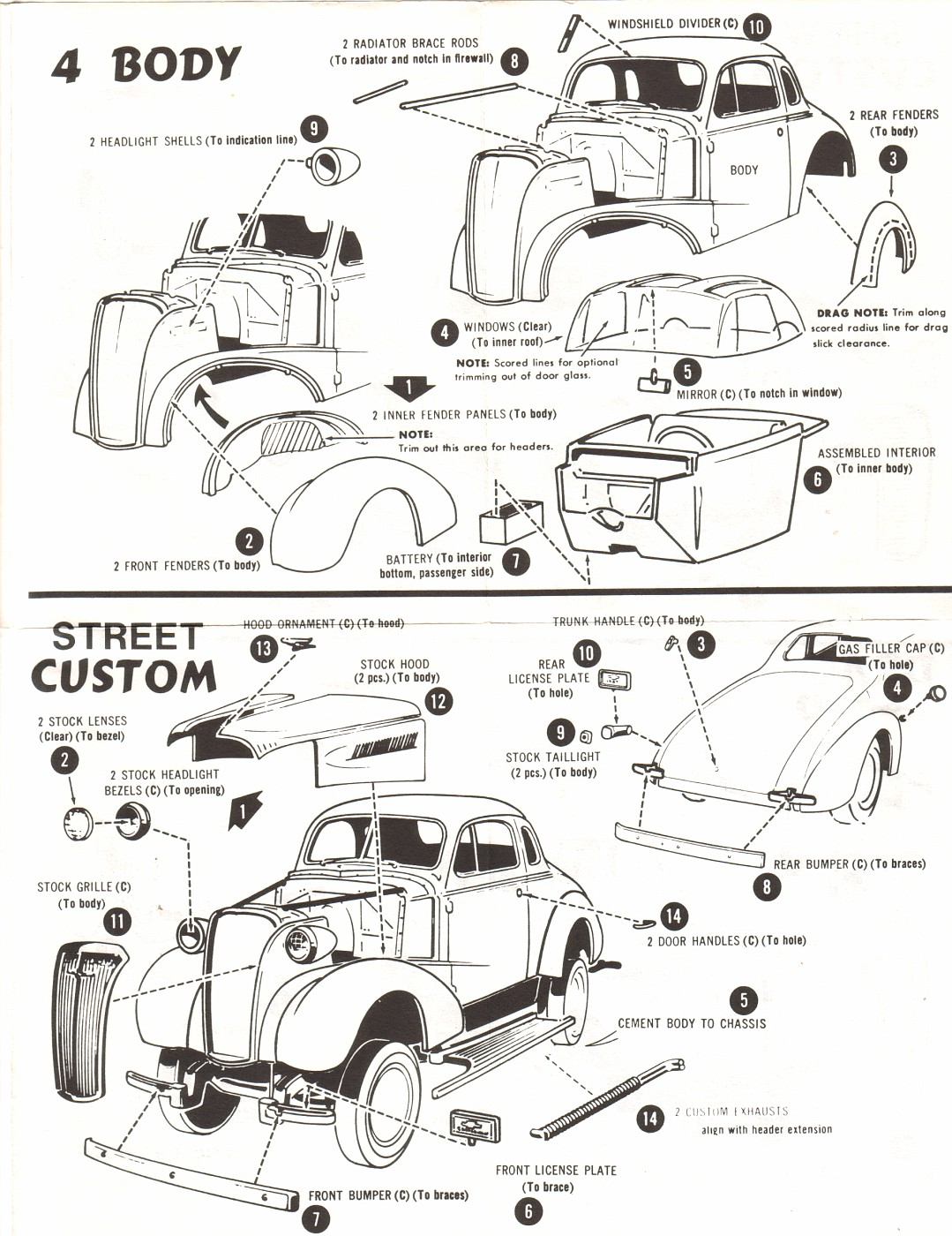 Photo: 37 Chevy Coupe AMT ERTL #6579 Instructions Pg3