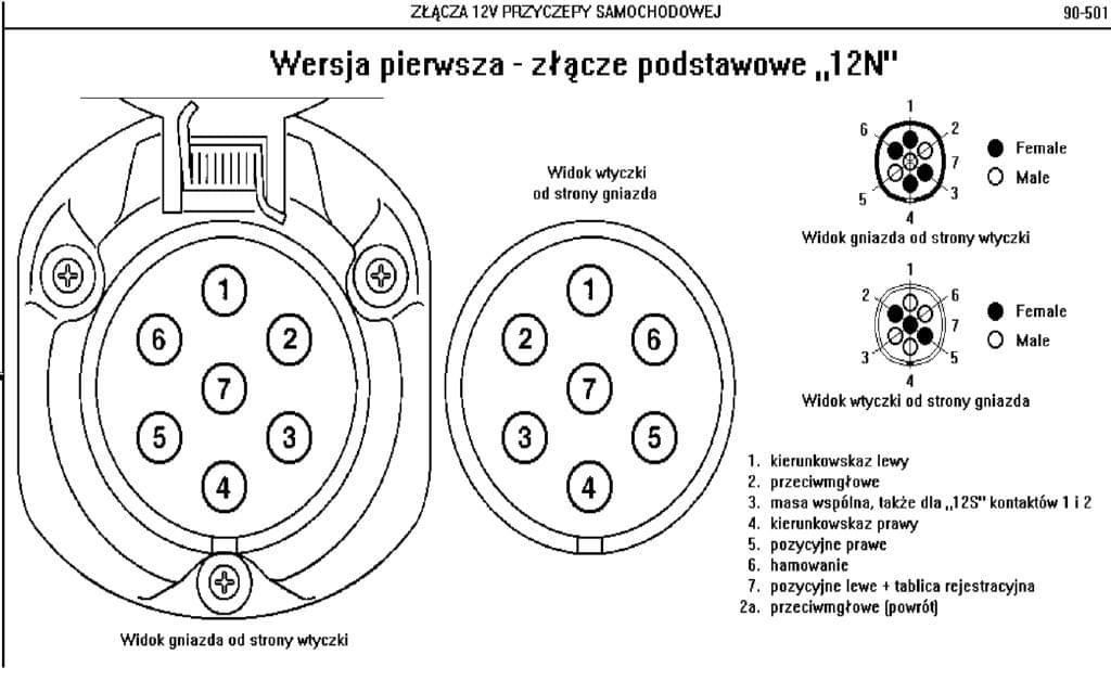 Piny w gnieżdzie do haka holowniczego. : C6 (2004-2011)