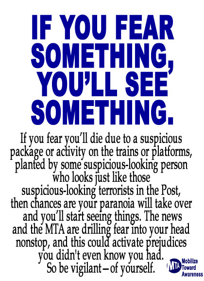 If you see something, say something. The Hell with what Muslims think.