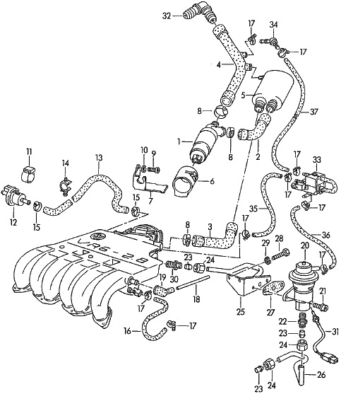schemat podciśnień VR6 AAA : Silniki benzynowe