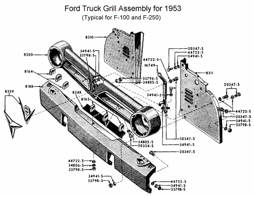 Photo: z detail information Flathead grill-53 F100truck