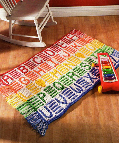 Fantastic crocheted rug!