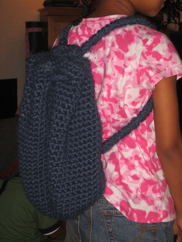 * A crocheted backpack!  Cool idea, I love it!