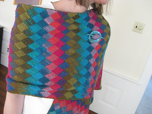 Stunning crochet wrap, just stunning!