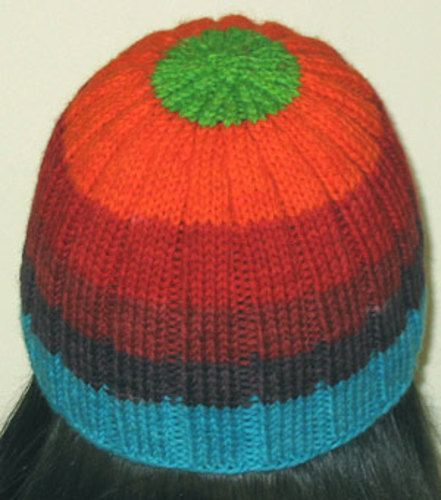 * Kool hat! This hat was knit with yarn all dyed with Kool-Aid - awesome colors, eh?!