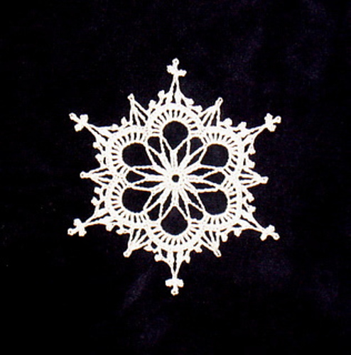 Crochet snowflake, just lovely.