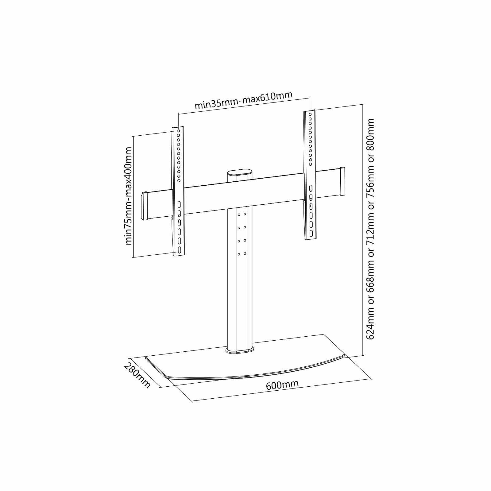 G-VO Tabletop Stand with Bracket for PHILIPS 42