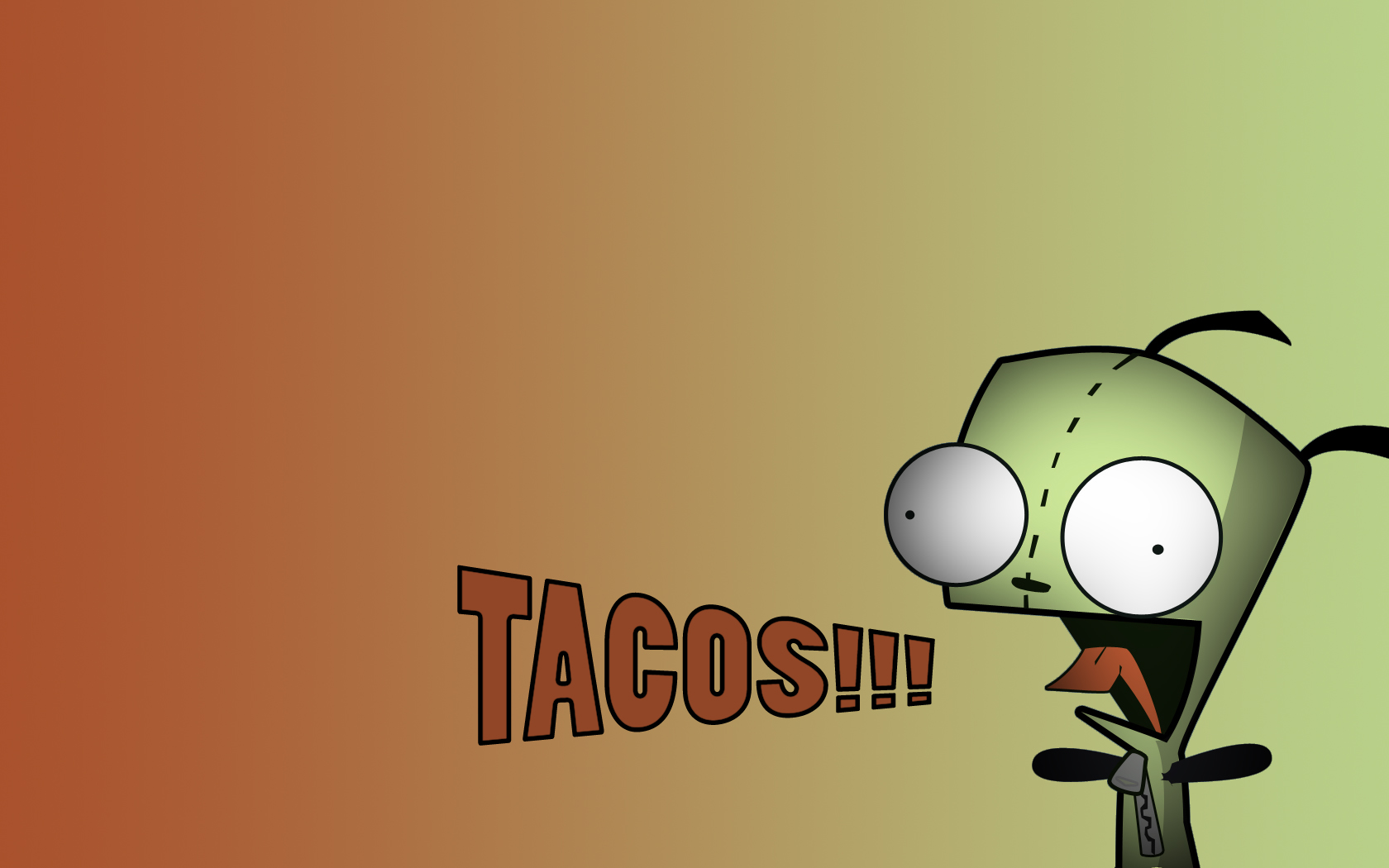 Invader Zim Iphone Wallpaper Gir Likes Tacos Fondo De Pantalla And Fondo De Escritorio