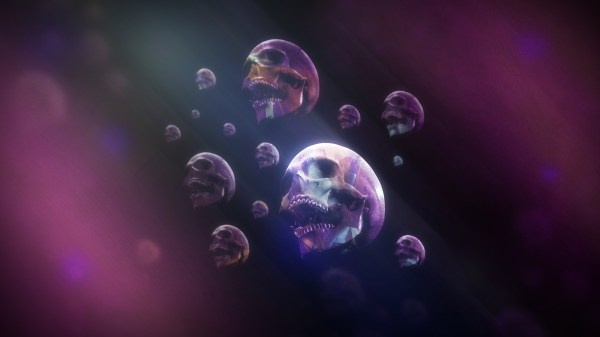 Psychedelic Dark Art Skull