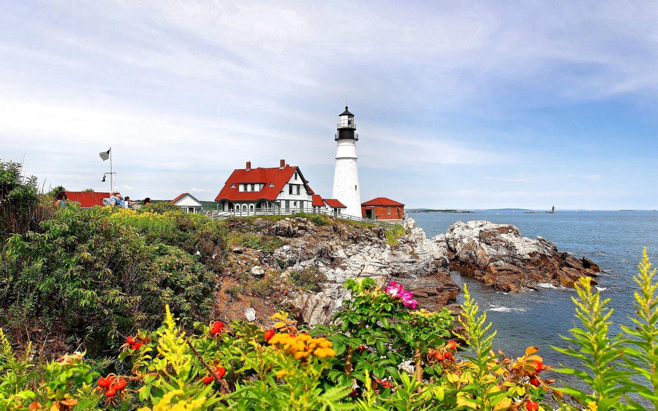Fall Coastal Desktop Wallpaper Lighthouse Hd Wallpaper Background Image 2560x1600