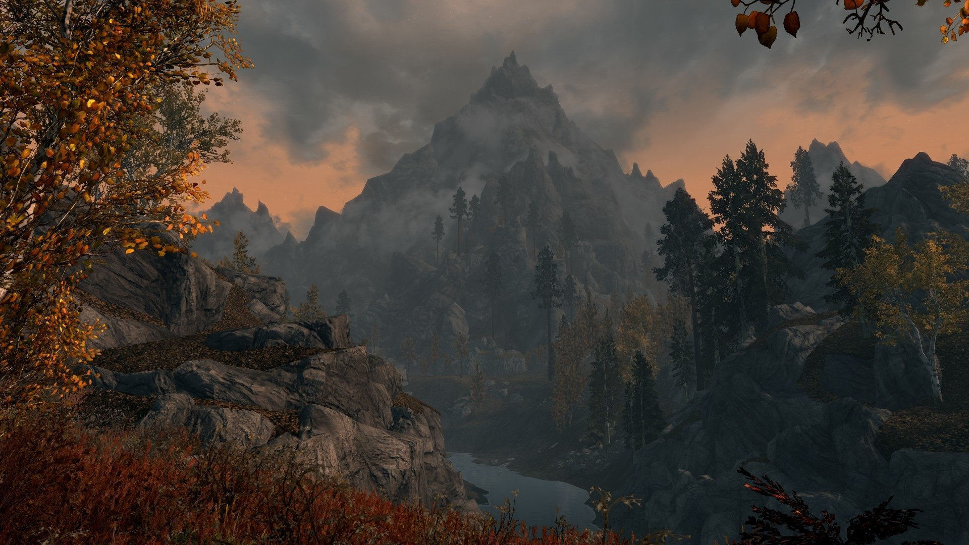 Skyrim Wallpaper Hd 1600x900 River Full Hd Wallpaper And Background 1920x1080 Id 559874