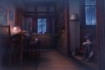 Sad Anime Girl in a Room