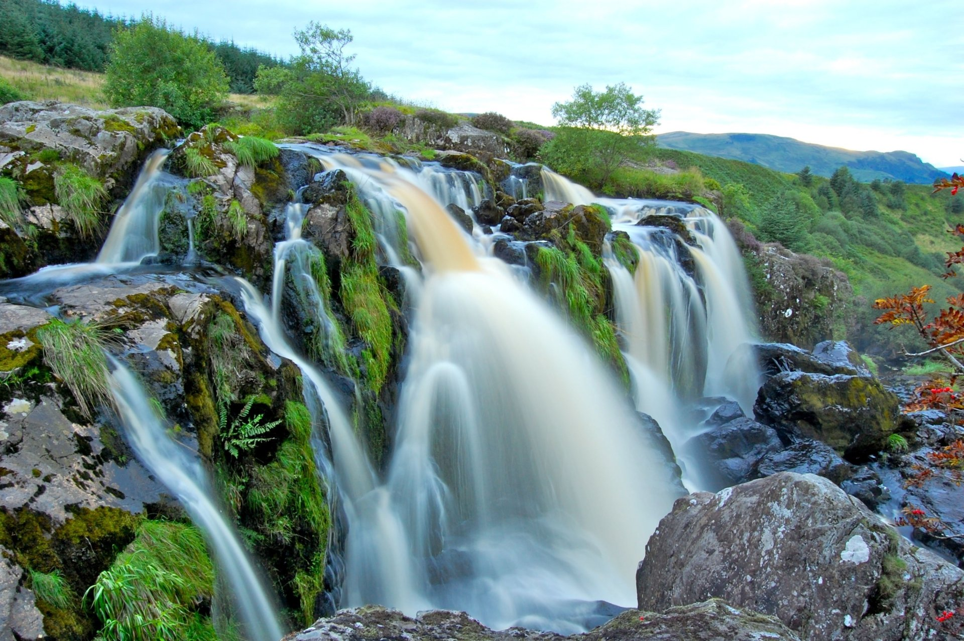 Cool Wallpapers Water Fall Loup Of Fintry Waterfall Hd Wallpaper Background Image