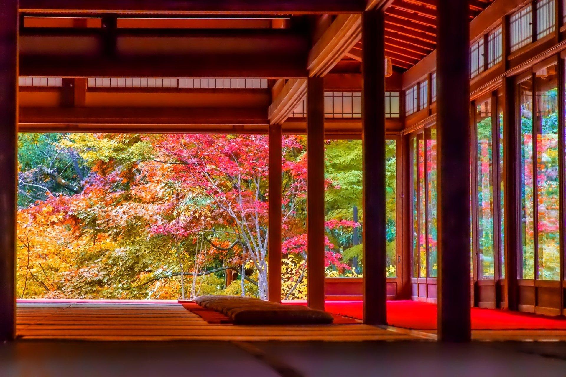 French Fall Wallpaper Japanese House In Autumn Fond D 233 Cran Hd Arri 232 Re Plan