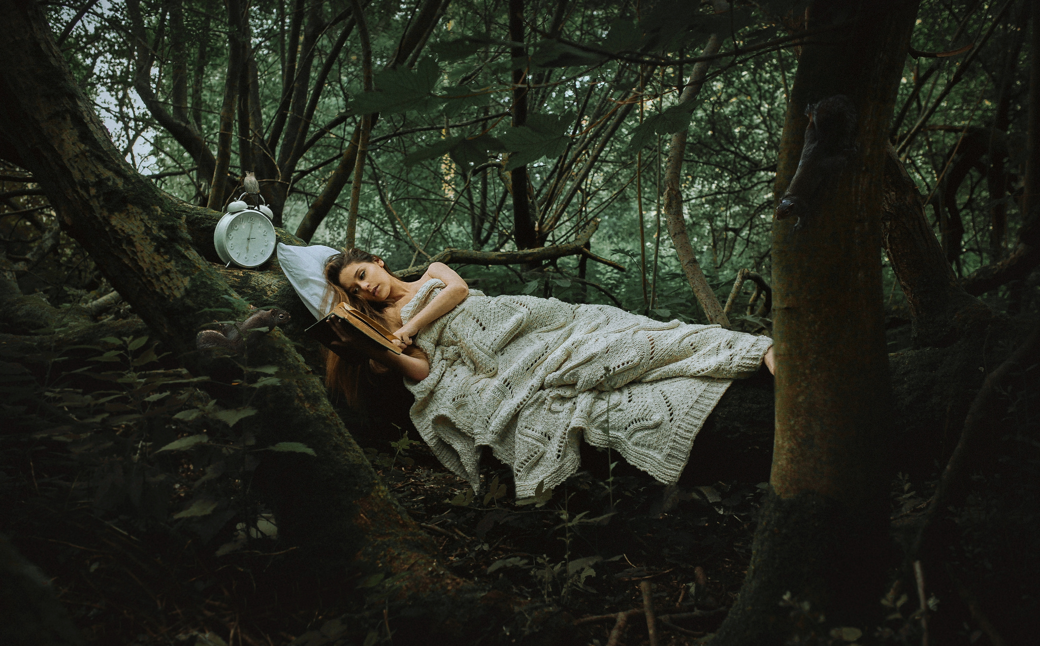 Girl In Rain Wallpaper For Facebook Napping In The Forest Hd Wallpaper Background Image