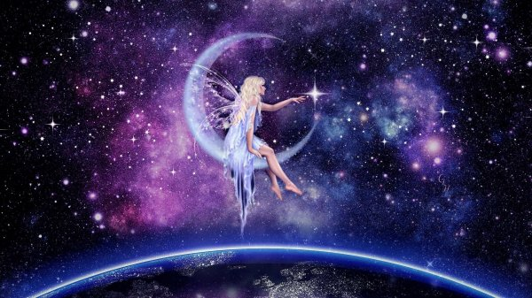 Moon Fairy Hd Wallpaper Background 1920x1080 Id 852996 - Abyss