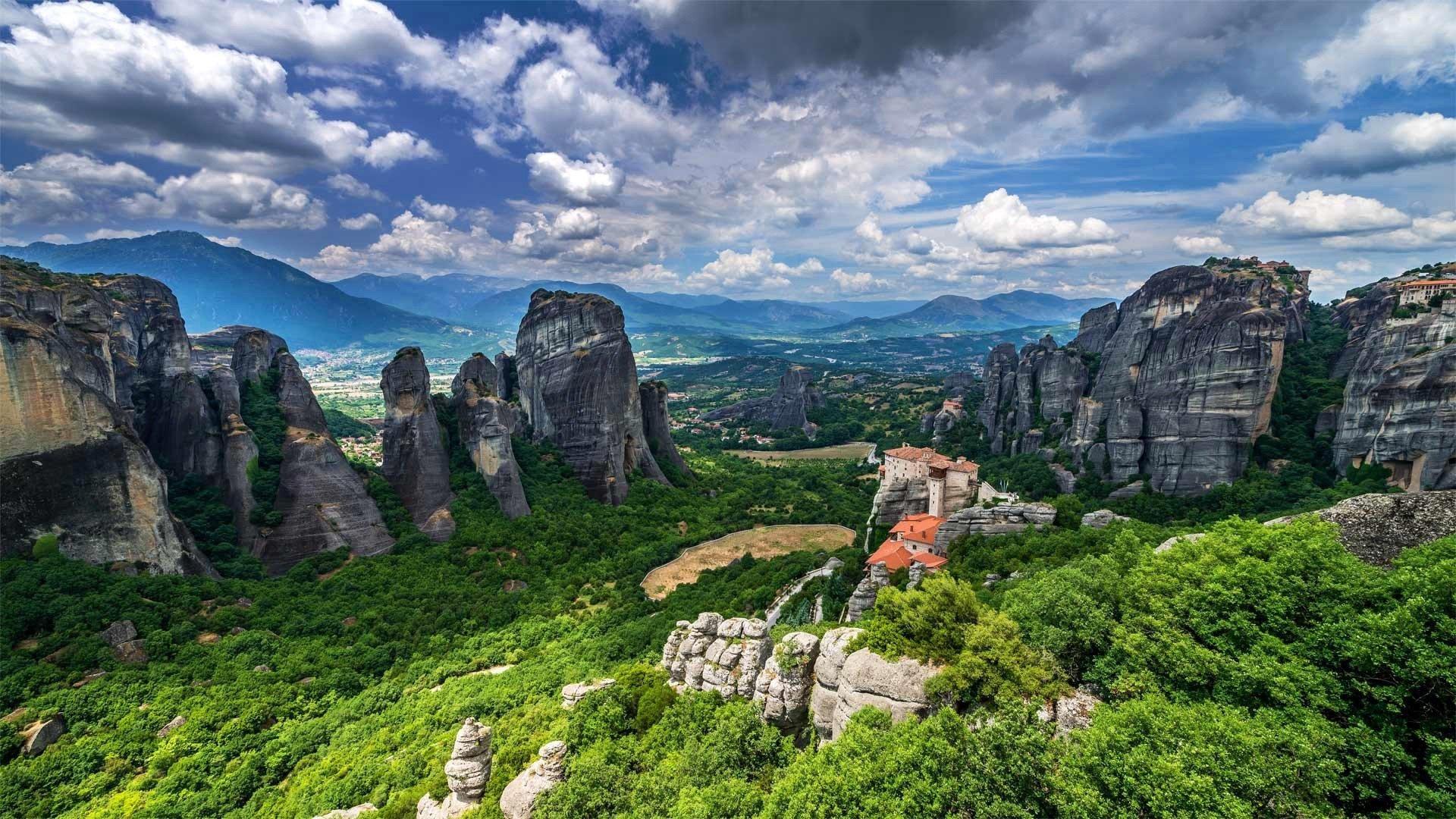 Rain Fall Hd Wallpaper Download Meteora Greece Hd Wallpaper Background Image