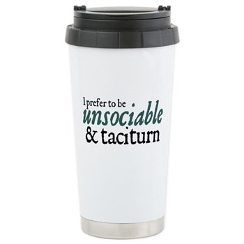 Jane Austen Unsociable Ceramic Travel Mug