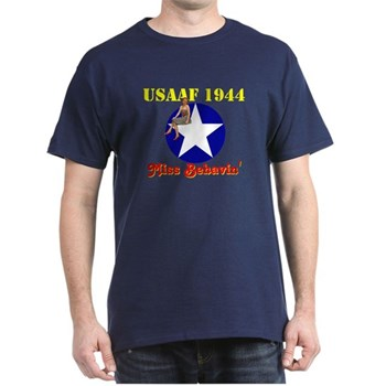 Retro Jill as bomber art USAAF 1944 Black T-Shirt