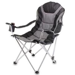 Folding Sports Chair Isokinetic Ball Camping Chairs World Reclining Camp Black