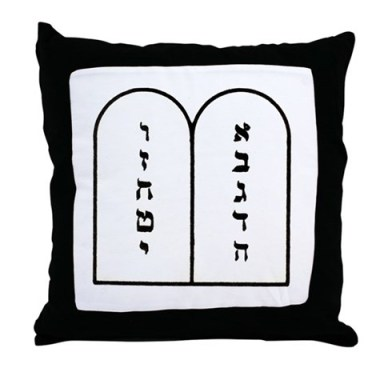"""Ten Commandments"" Throw Pillow"