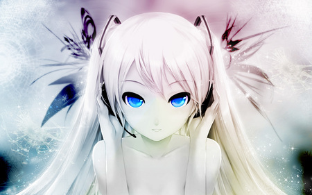 anime girl with white and blue eyes x3 plz anime answers fanpop