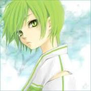 green haired male anime characters