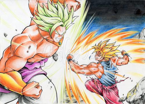 Goku Vs Broly Dragon Ball Z Fan Art 26880954 Fanpop