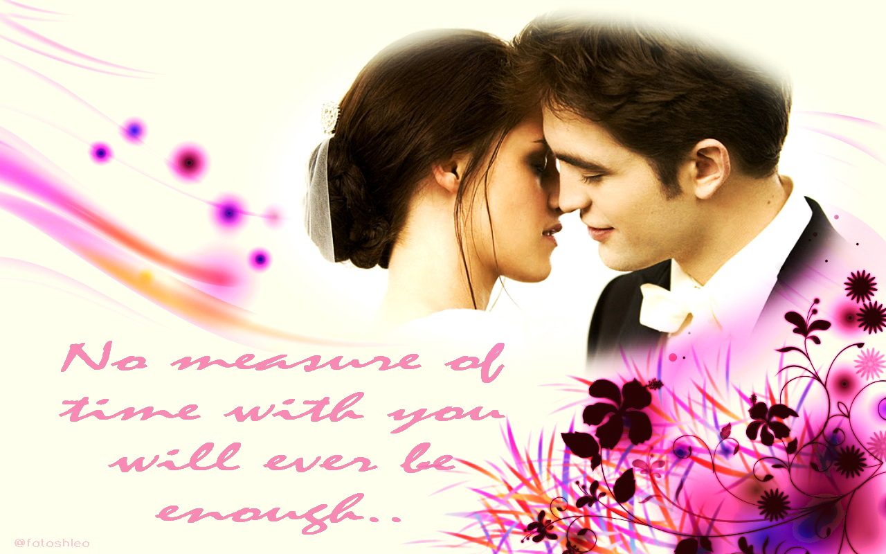 Kissing Wallpapers With Love Quotes Beautiful Wallpapers Fanmade Breaking Dawn 1 Twilight