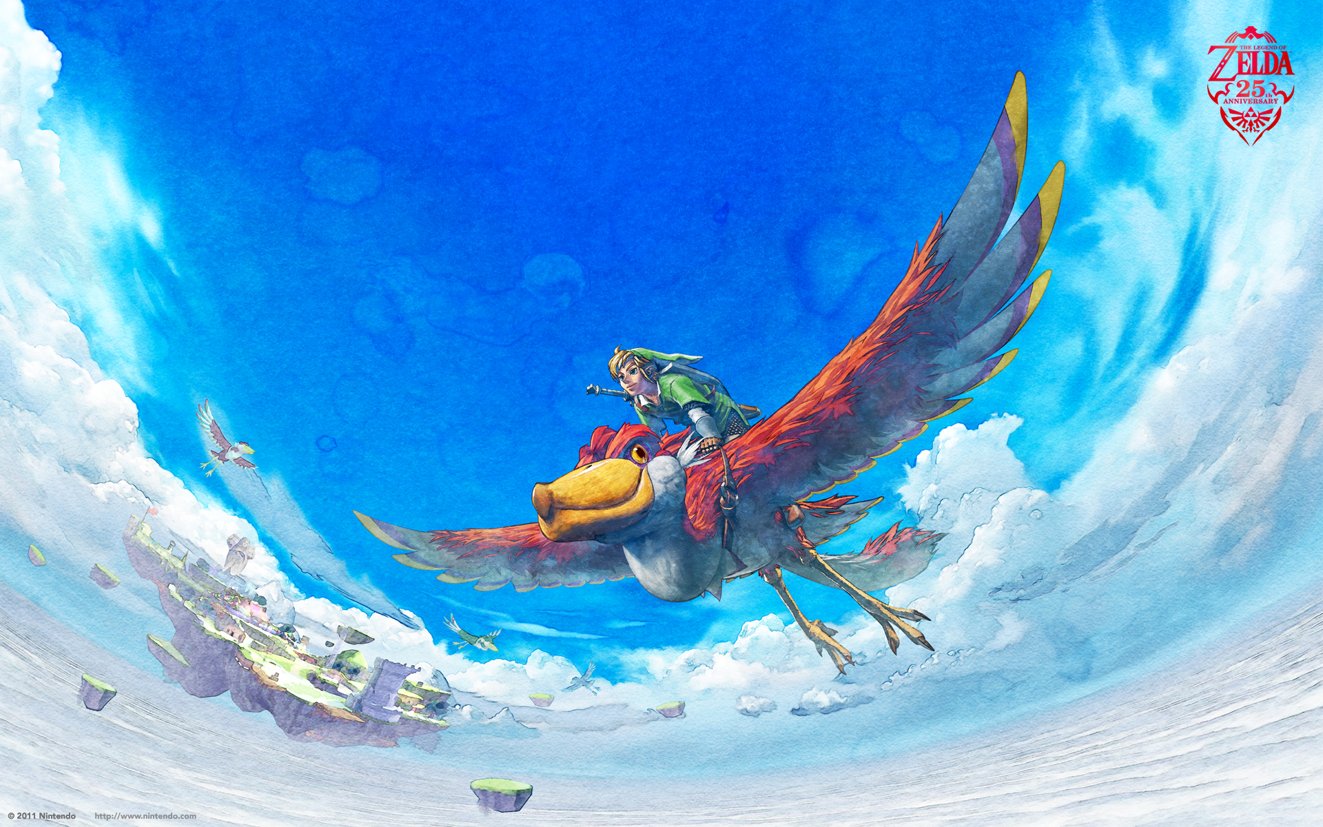 link flying on his