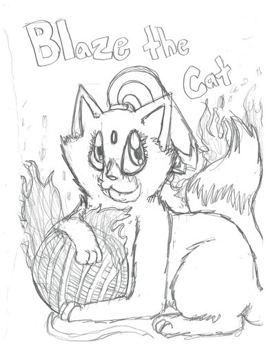 Sonic Fan Characters images My contest pic-Blaze(sketch