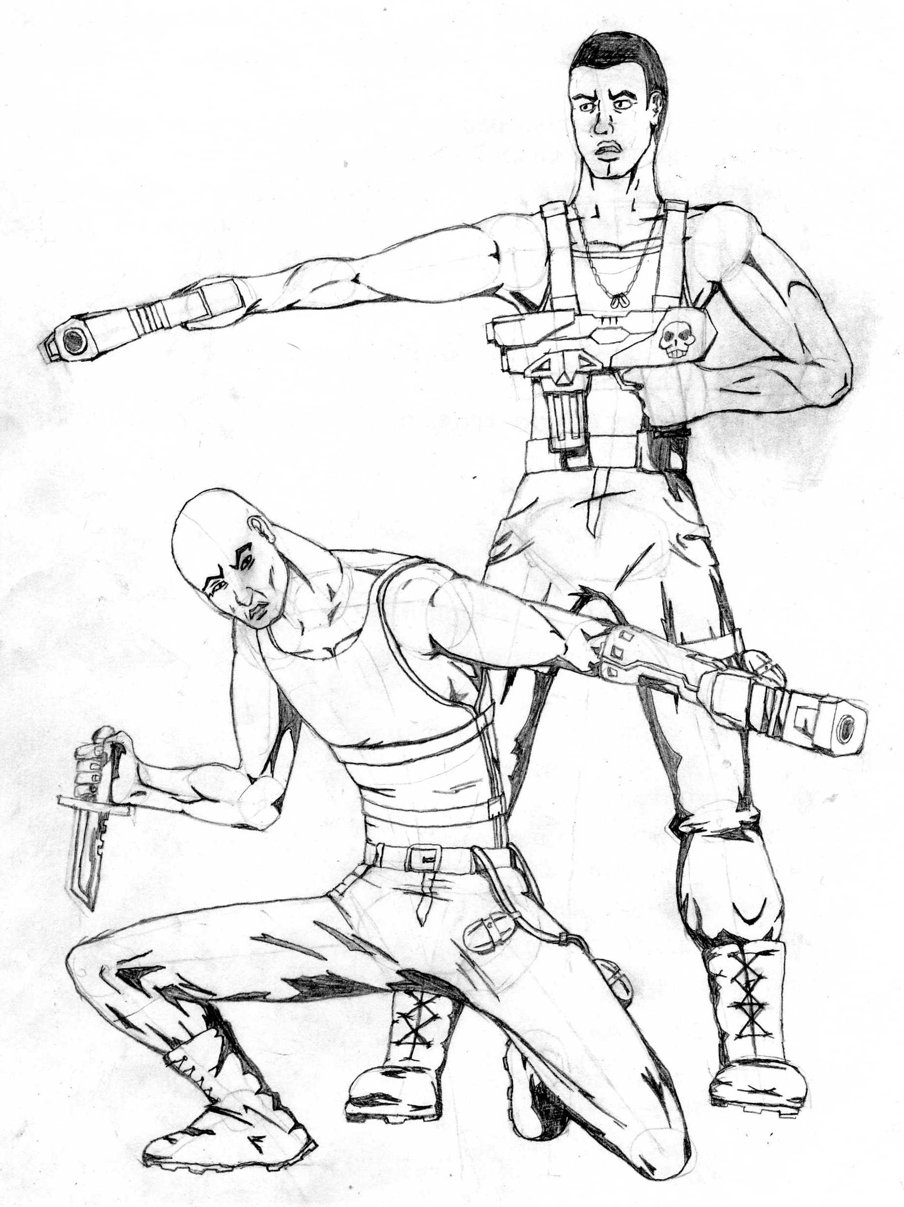 Future Soldier Drawings Sketches Sketch Coloring Page