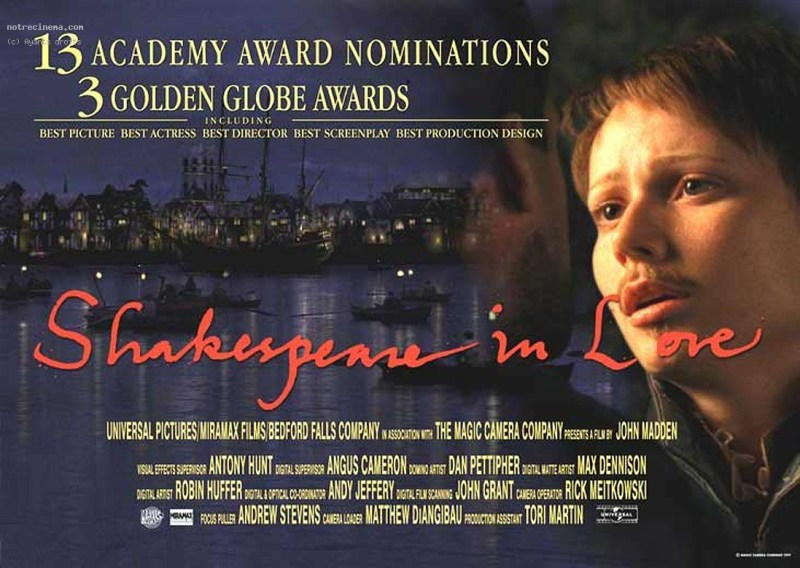 Image result for shakespeare in love poster
