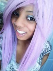 purple hair - emo & scene hairstyles