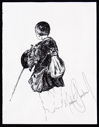 Drawings by Michael Jackson. Michael Jackson taught