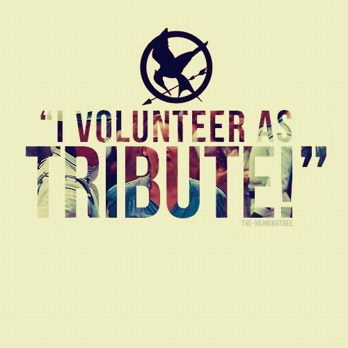 Katniss Everdeen I Volunteer Tribute